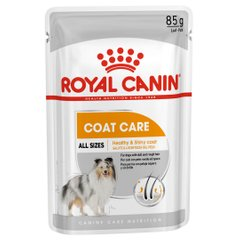 Вологий корм для собак з з тьмяною шерстю Royal Canin Coat Beauty Loaf pouch 85 г (домашня птиця) - masterzoo.ua