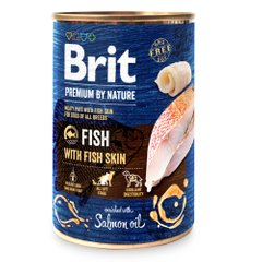 Вологий корм для собак Brit Premium By Nature Fish with Fish Skin 800 г (риба) - masterzoo.ua