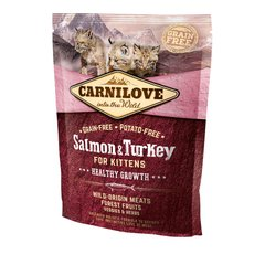 Сухой корм для котят Carnilove Cat Salmon & Turkey Kitten 400 г (лосось и индейка) - masterzoo.ua