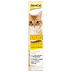 Ласощі для котів GimCat Multi-Vitamin Duo-Paste Cheese + 12 Vitamins 50 г (мультивітамін) - masterzoo.ua