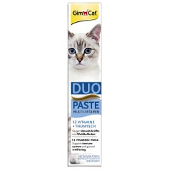 Ласощі для котів GimCat Multi-Vitamin Duo Paste Tuna + 12 Vitamins 50 г (мультивітамін) - masterzoo.ua