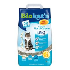 Наполнитель туалета для кошек Biokat's Classic Fresh 3in1 Cotton Blossom 10 л (бентонитовый)