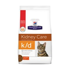 Сухой корм для кошек, при заболеваниях почек Hills Prescription Diet Feline k/d 400 г (домашняя птица) - masterzoo.ua