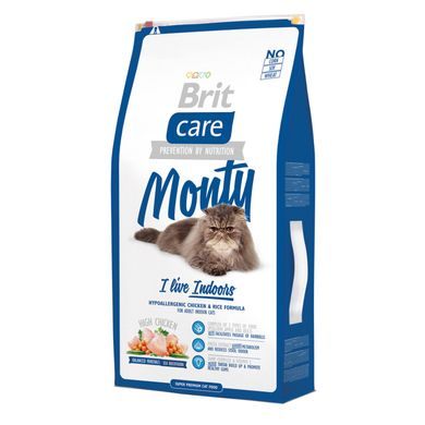 Сухой корм для кошек, живущих в помещении Brit Care Cat Monty I am Living Indoor 7 кг (курица и рис) - masterzoo.ua