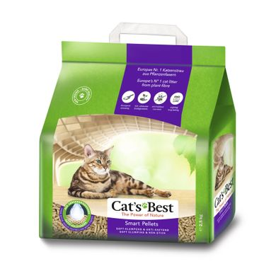Наполнитель туалета для кошек Cat's Best «‎Smart Pellets» 5 л (древесный) - masterzoo.ua
