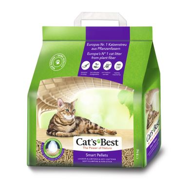 Наполнитель туалета для кошек Cat's Best «‎Smart Pellets» 10 л (древесный) - masterzoo.ua