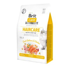 Сухий корм для котів Brit Care Cat GF Haircare Healthy & Shiny Coat 400 г (курка і лосось) - masterzoo.ua