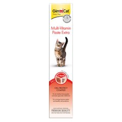 Ласощі для котів GimCat Multi-Vitamin Paste Extra 50 г (мультивітамін) - masterzoo.ua