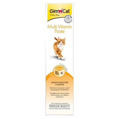 Ласощі для котів GimCat Multi-Vitamin Paste 200 г (мультивітамін) - masterzoo.ua