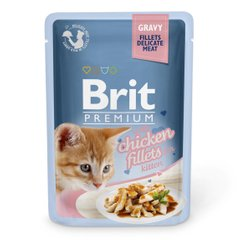 Вологий корм для кошенят Brit Premium Cat Chicken Fillets for Kitten Gravy pouch 85 г (філе курки в соусі) - masterzoo.ua