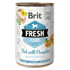 Влажный корм для собак Brit Fresh Fish with Pumpkin 400 г (рыба) - masterzoo.ua